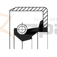 Wheel hub gasket/seal