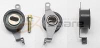 Roller timing belt tensioner